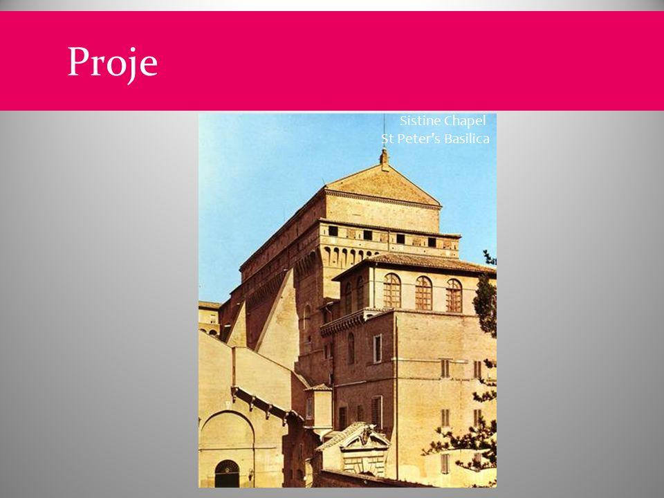 Proje Sistine Chapel St Peter's Basilica