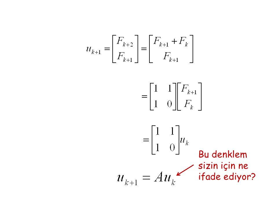 Bu denklem sizin için ne ifade ediyor