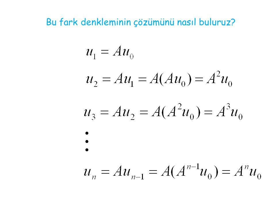 Bu fark denkleminin çözümünü nasıl buluruz