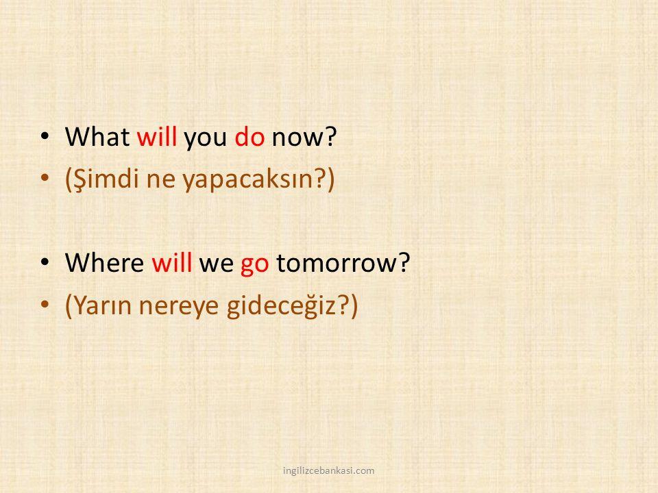 Where will we go tomorrow (Yarın nereye gideceğiz )