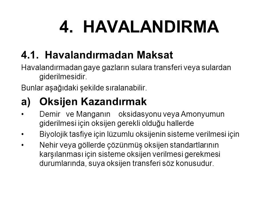 4. HAVALANDIRMA 4.1. Havalandırmadan Maksat Oksijen Kazandırmak