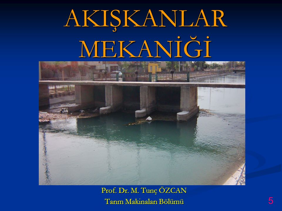 Prof. Dr. M. Tunç ÖZCAN Tarım Makinaları Bölümü