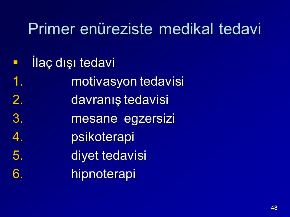 Primer enüreziste medikal tedavi