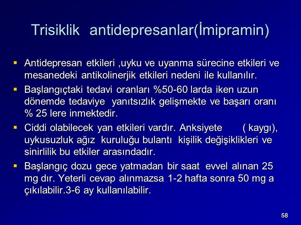 Trisiklik antidepresanlar(İmipramin)