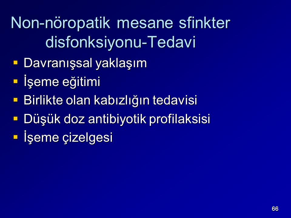 Non-nöropatik mesane sfinkter disfonksiyonu-Tedavi