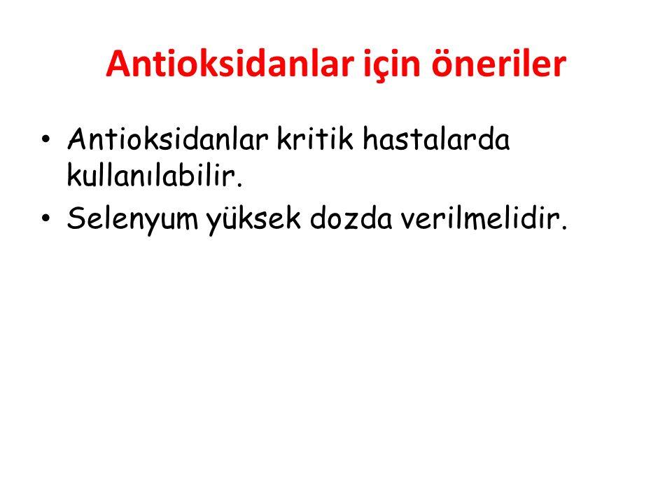 Antioksidanlar için öneriler