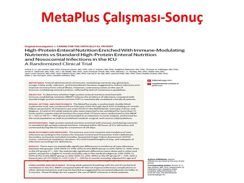 MetaPlus Çalışması-Sonuç