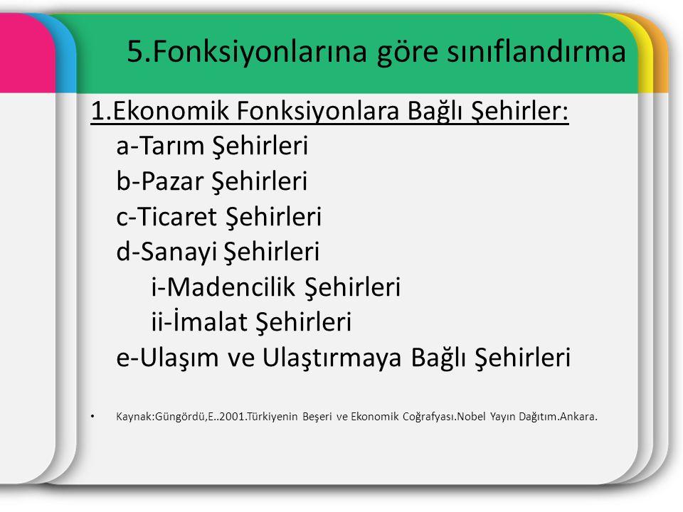 5.Fonksiyonlarına göre sınıflandırma