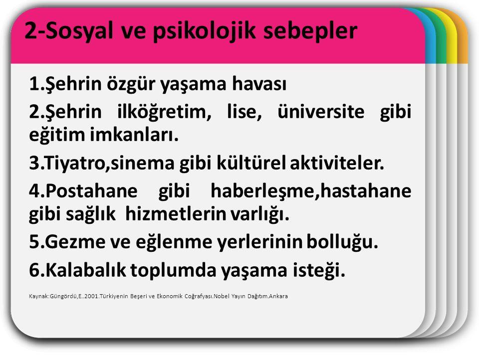 2-Sosyal ve psikolojik sebepler
