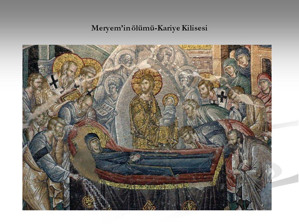 Meryem'in ölümü-Kariye Kilisesi