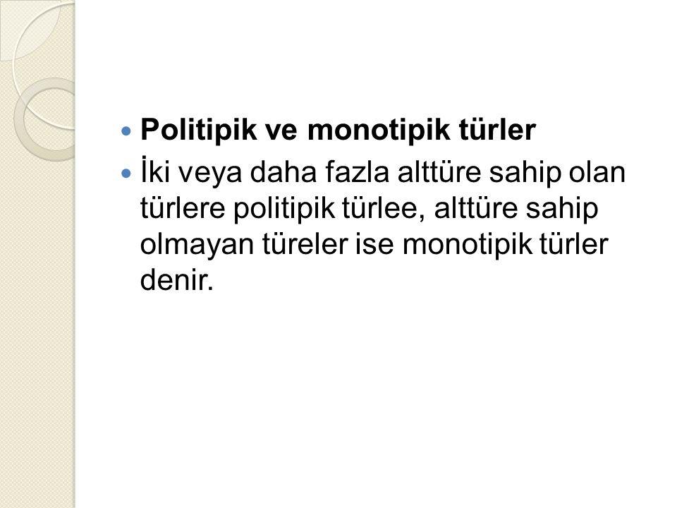 Politipik ve monotipik türler