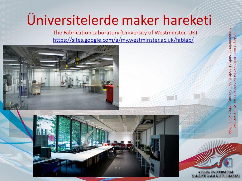 Üniversitelerde maker hareketi