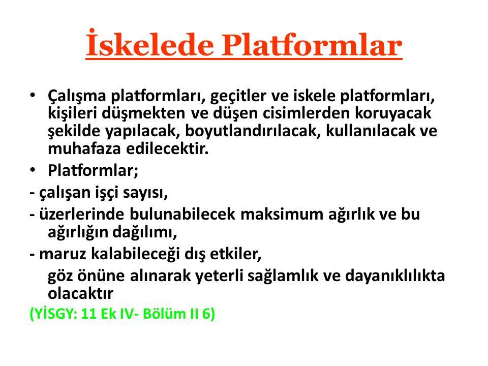 İskelede Platformlar