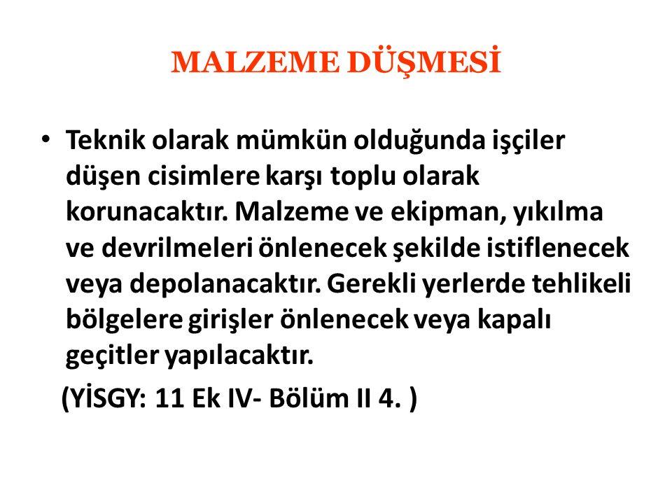 MALZEME DÜŞMESİ