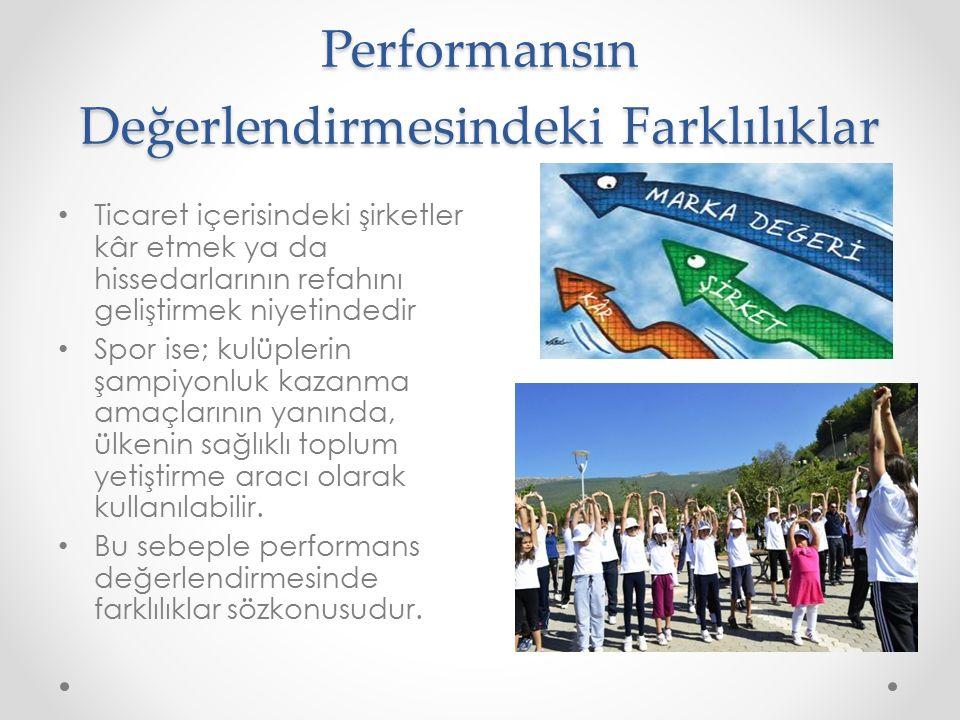 Performansın Değerlendirmesindeki Farklılıklar