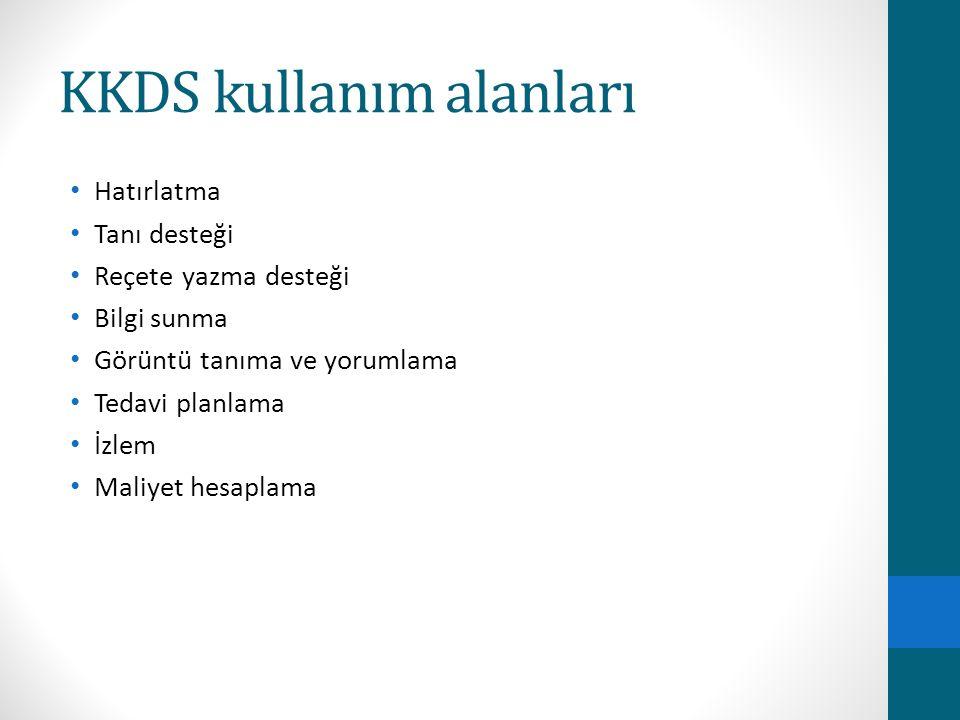 KKDS kullanım alanları