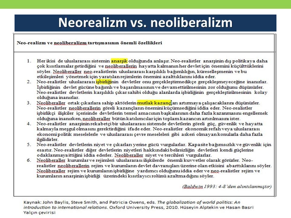 Neorealizm vs. neoliberalizm