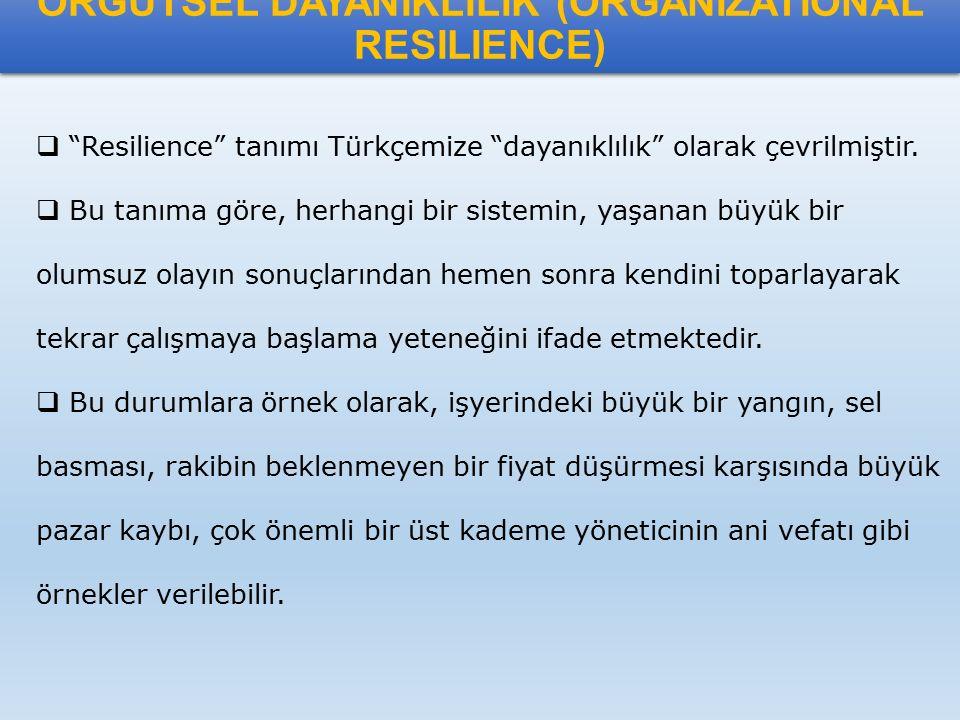 ÖRGÜTSEL DAYANIKLILIK (ORGANIZATIONAL RESILIENCE)