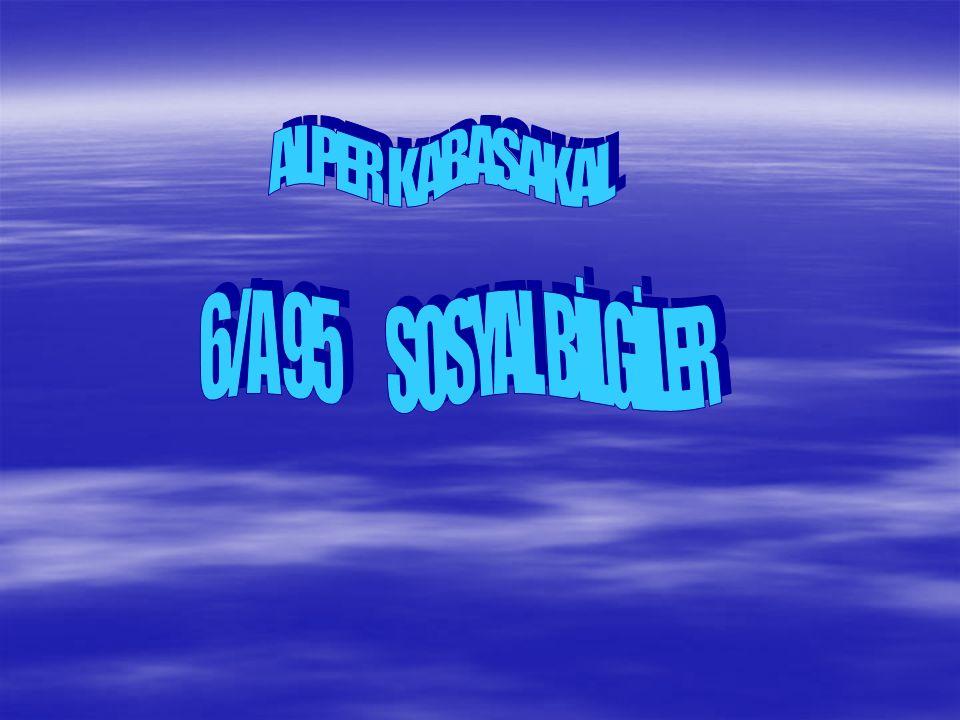 ALPER KABASAKAL 6/A 95 SOSYAL BİLGİLER