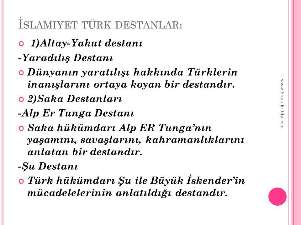 İslamiyet türk destanları