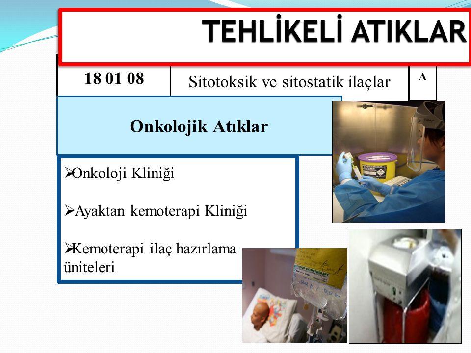 Sitotoksik ve sitostatik ilaçlar