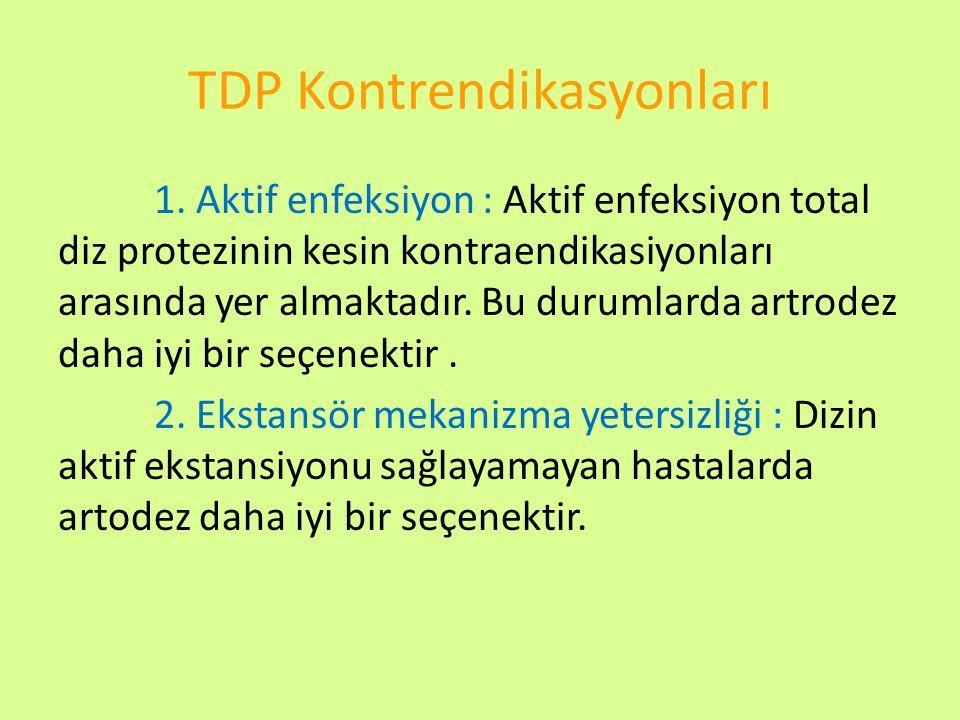 TDP Kontrendikasyonları