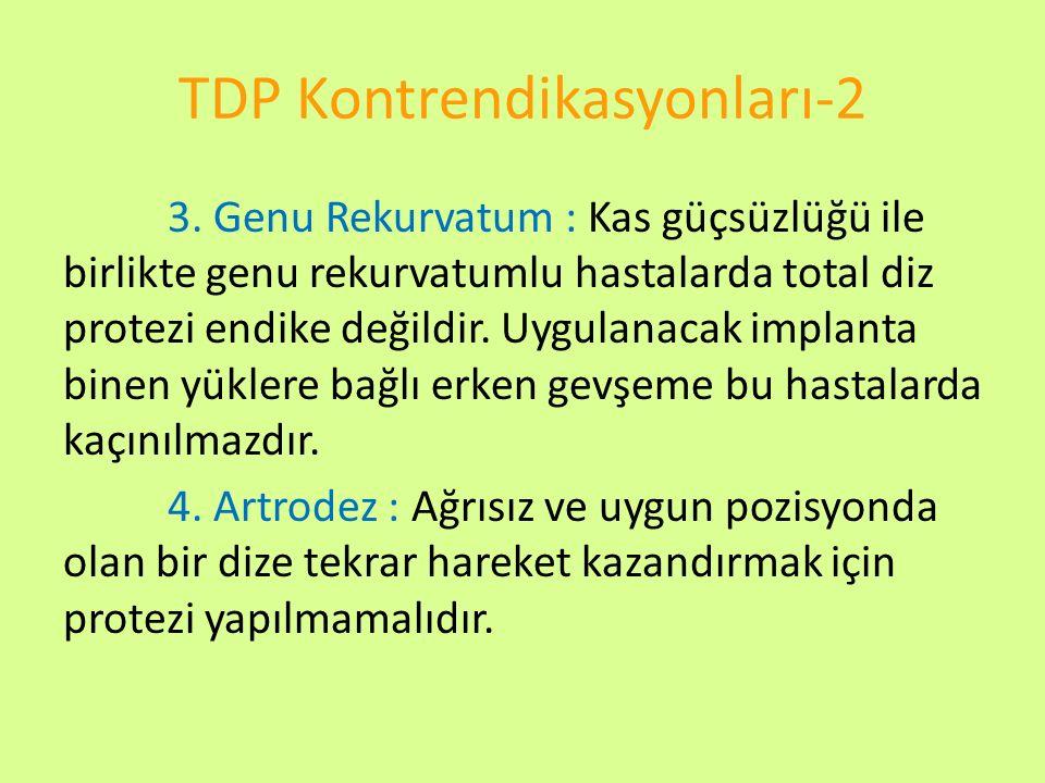 TDP Kontrendikasyonları-2