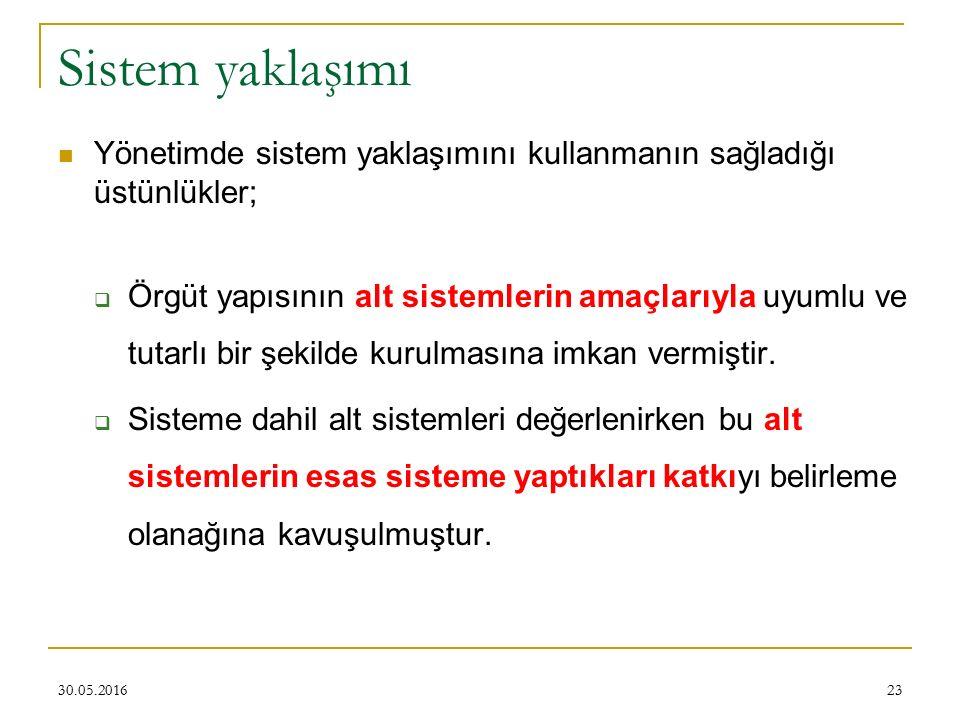 Sistem yaklaşımı Yönetimde sistem yaklaşımını kullanmanın sağladığı üstünlükler;