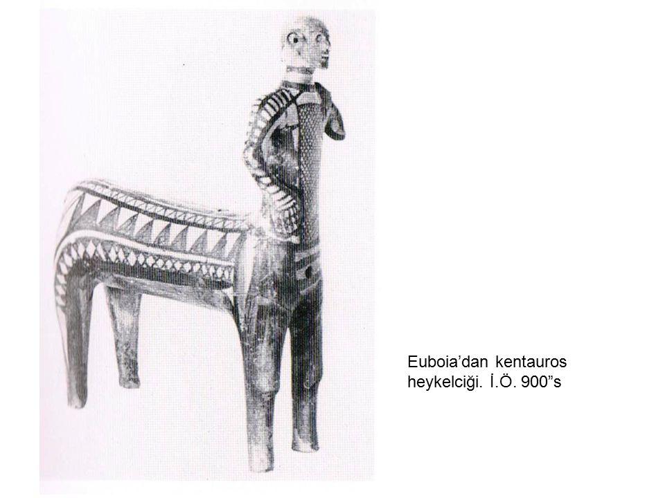 Euboia'dan kentauros heykelciği. İ.Ö. 900 s