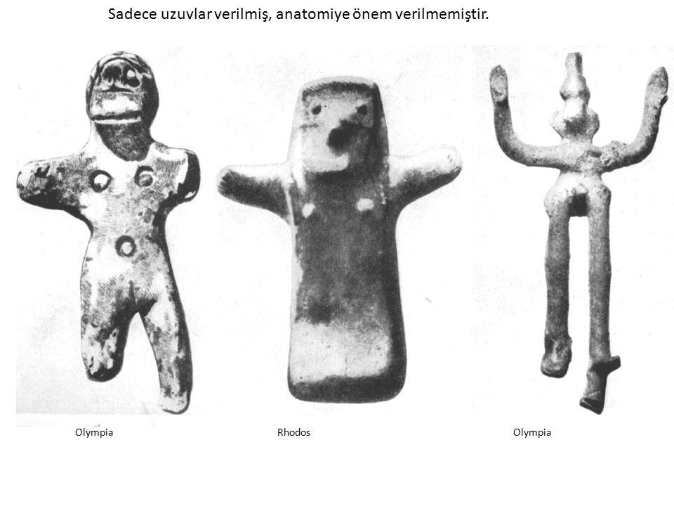 Sadece uzuvlar verilmiş, anatomiye önem verilmemiştir.