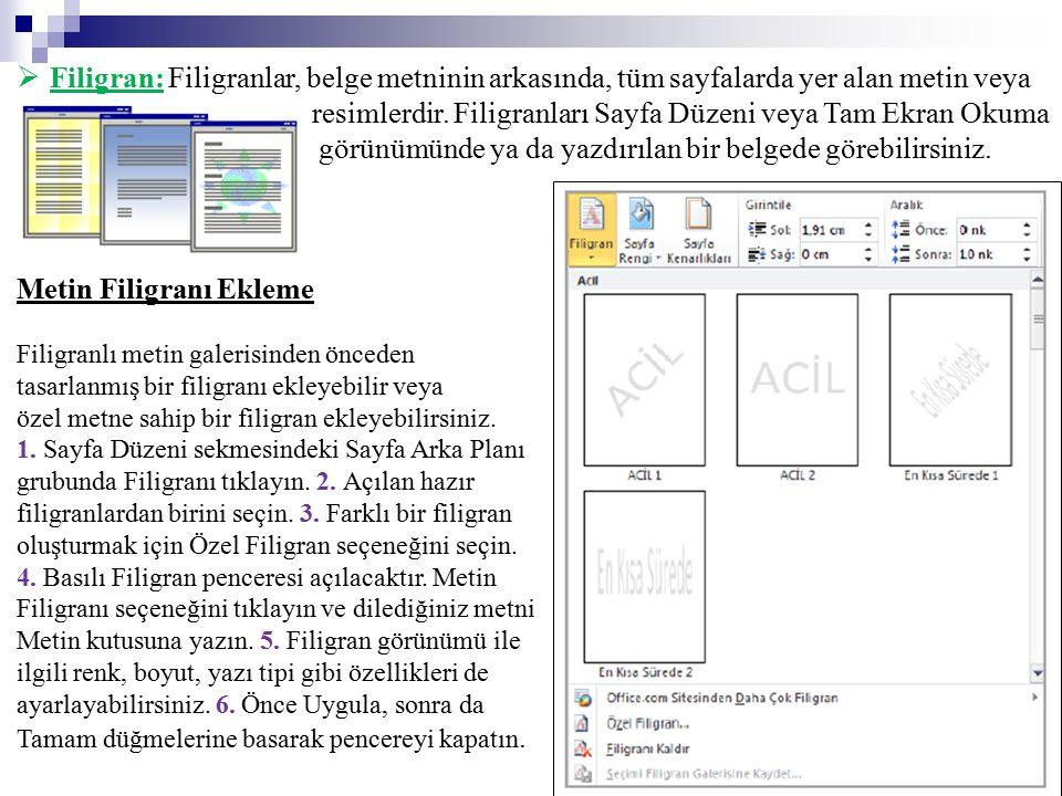 resimlerdir. Filigranları Sayfa Düzeni veya Tam Ekran Okuma