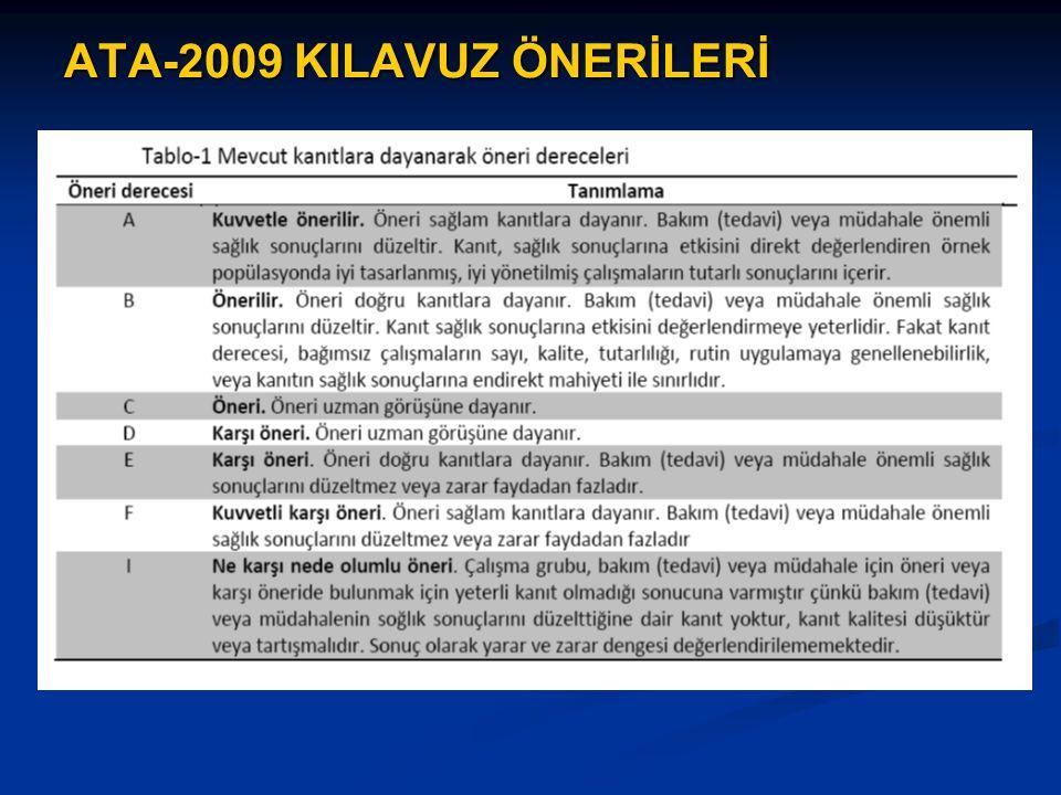 ATA-2009 KILAVUZ ÖNERİLERİ