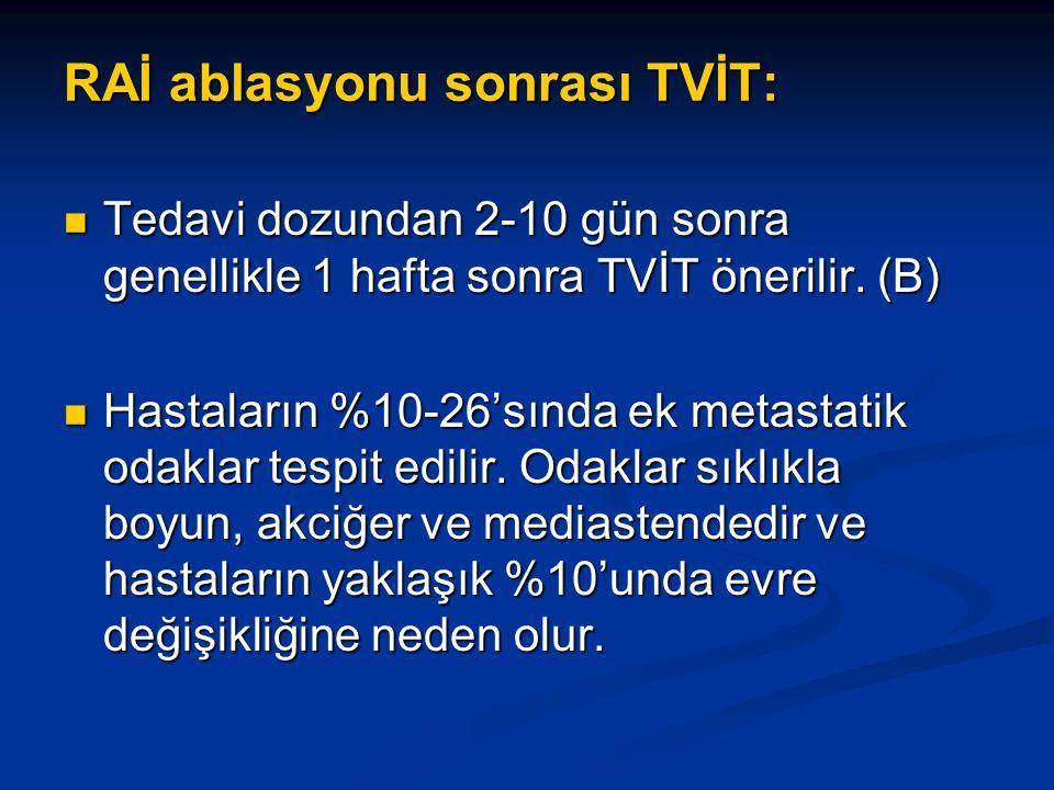 RAİ ablasyonu sonrası TVİT: