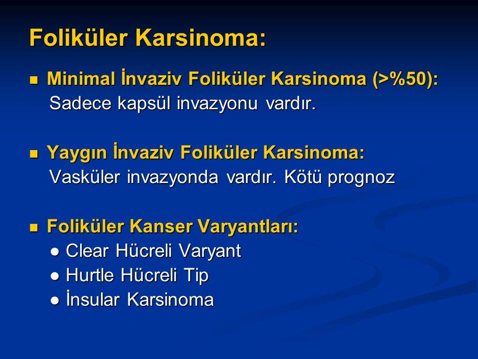 Foliküler Karsinoma: Minimal İnvaziv Foliküler Karsinoma (>%50):