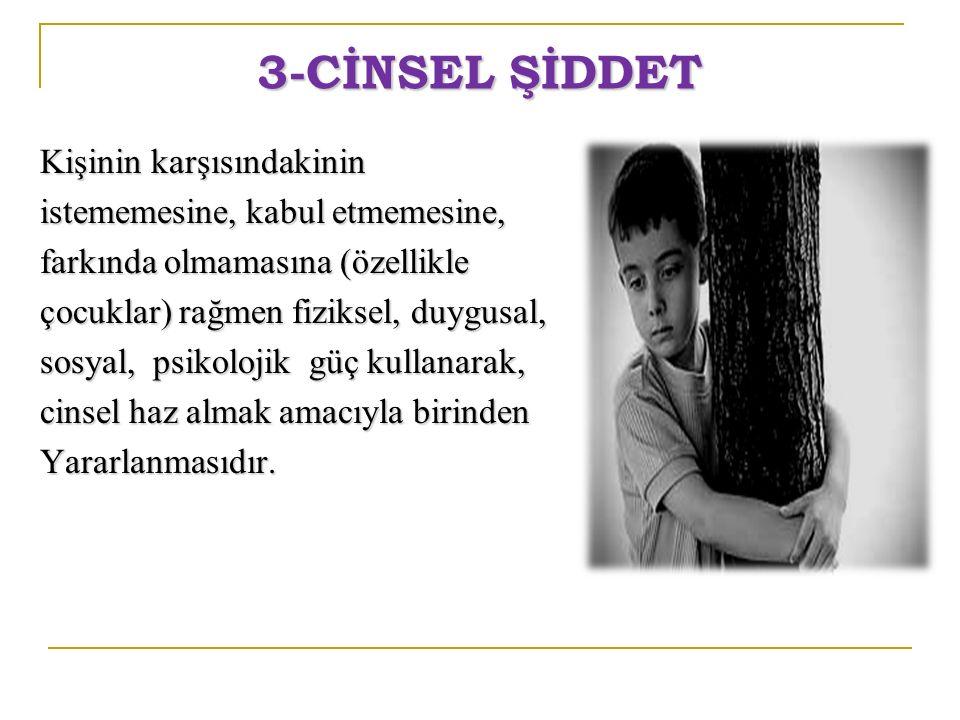 3-CİNSEL ŞİDDET