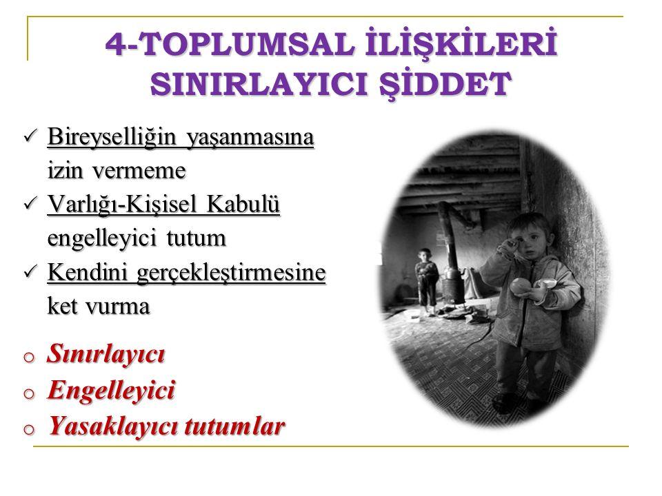 4-TOPLUMSAL İLİŞKİLERİ SINIRLAYICI ŞİDDET