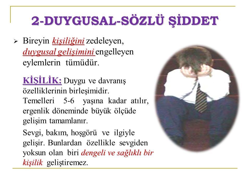 2-DUYGUSAL-SÖZLÜ ŞİDDET