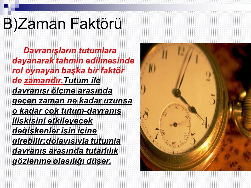 B)Zaman Faktörü