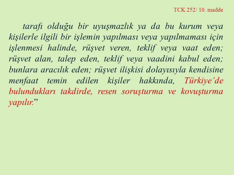TCK 252/ 10. madde