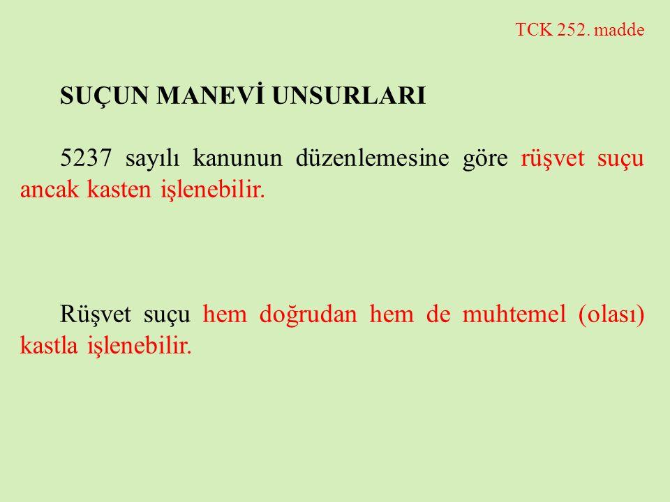 SUÇUN MANEVİ UNSURLARI