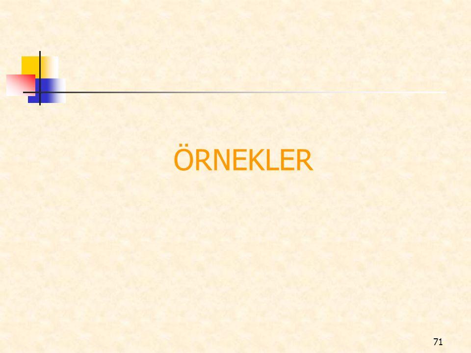 ÖRNEKLER