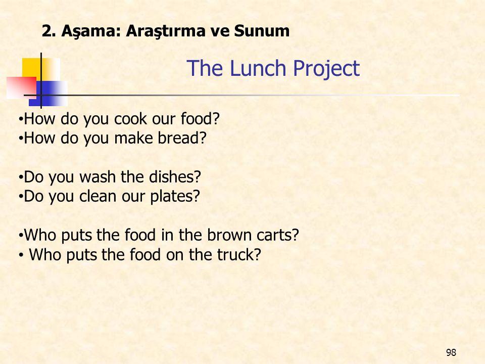 The Lunch Project 2. Aşama: Araştırma ve Sunum