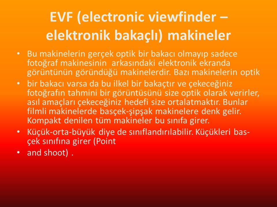 EVF (electronic viewfinder – elektronik bakaçlı) makineler