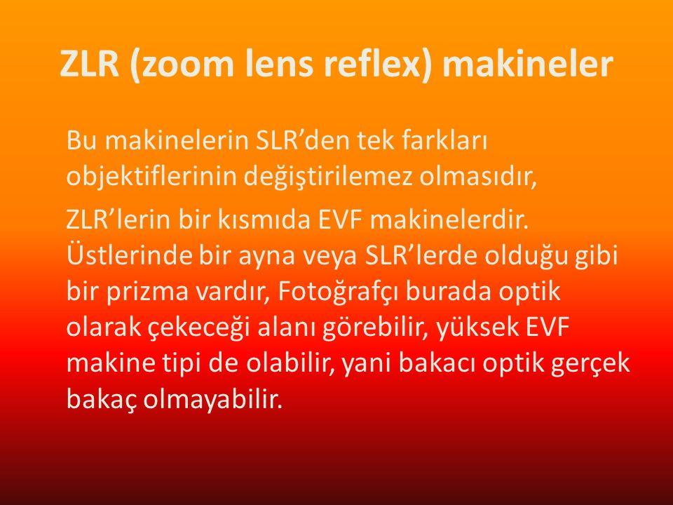 ZLR (zoom lens reflex) makineler