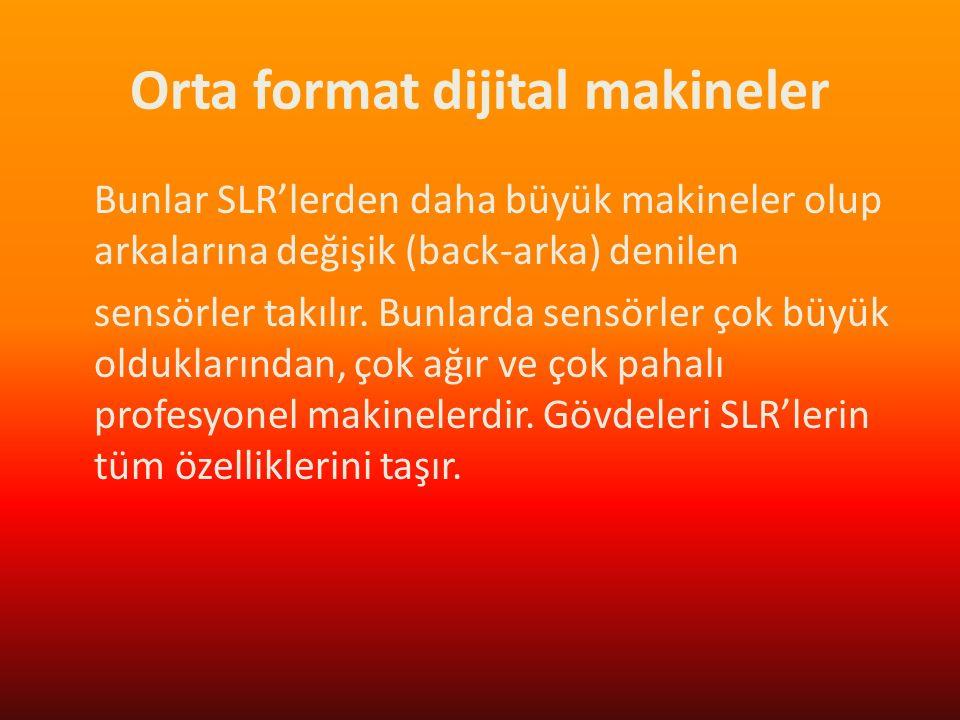 Orta format dijital makineler