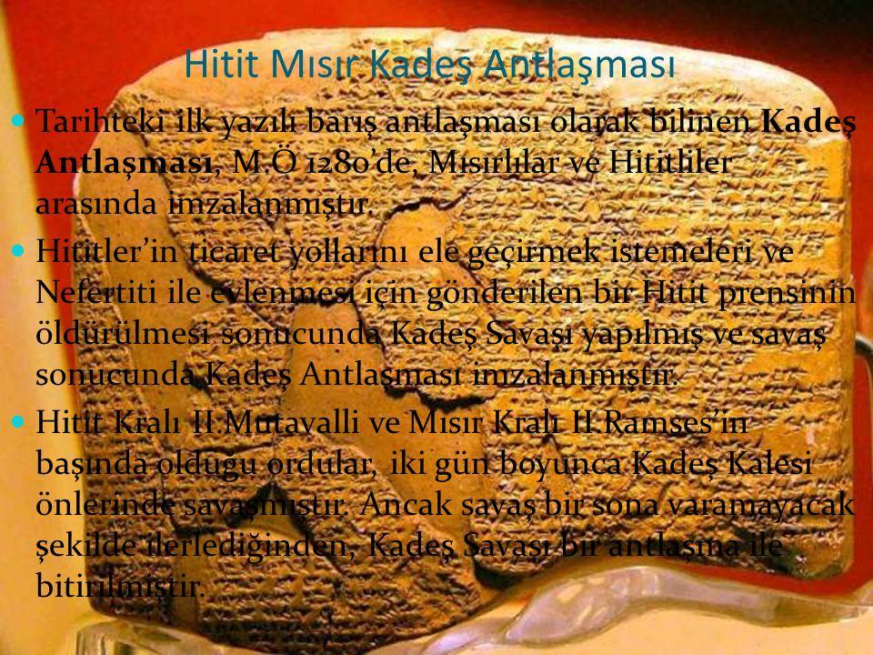 Hitit Mısır Kadeş Antlaşması