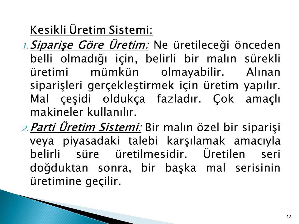 Kesikli Üretim Sistemi: