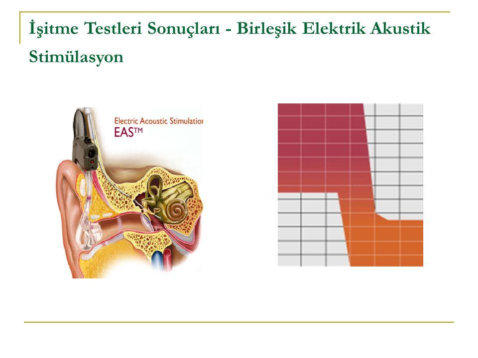 İşitme Testleri Sonuçları - Birleşik Elektrik Akustik Stimülasyon