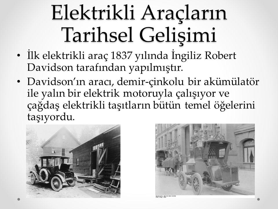 Elektrikli Araçların Tarihsel Gelişimi