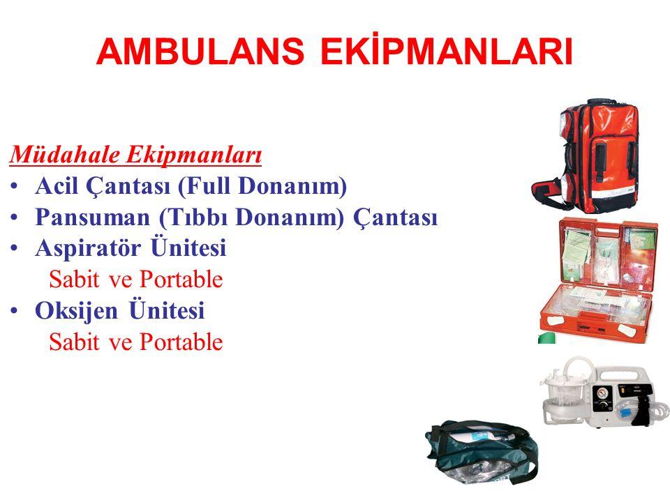 AMBULANS EKİPMANLARI Müdahale Ekipmanları Acil Çantası (Full Donanım)